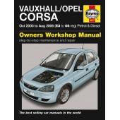 Haynes Vauxhall/Opel Corsa Petrol & Diesel (Oct 03 - Aug 06) 53 to 06