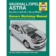 Haynes manual: Vauxhall/Opel Astra Diesel (May 04-08) 04 to 08