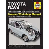 Haynes manual: Toyota RAV4 Petrol & Diesel (94-Jan 06) L to 55
