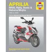 Haynes Aprilia SR50, Rally, Sonic & Habana/Mojito Scooters (93 - 09)
