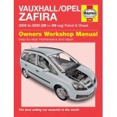 Haynes manual: Vauxhall/Opel Zafira Petrol & Diesel (05-09) 05 to 09