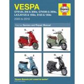 Haynes manual: Vespa GTS125, 250 & 300 ie, GTV250/300ie, LX125/150ie, S125/150ie (05-10)