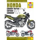 Haynes Honda CB600 Hornet, CBF600 & CBR600F (07 - 12)