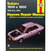 Haynes Subaru 1600 & 1800 (80 - 94)