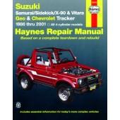 Haynes Suzuki Samurai, Sidekick, X-90 & Vitara, Geo/Chevrolet Tracker (86 - 01)
