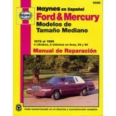 Haynes Ford & Mercury Modelos de Tamaño Mediano (75 - 86)