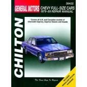 Haynes Chevrolet Full-size Cars (79 - 89)