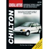 Haynes Chevrolet Metro & Sprint, Geo Metro & Suzuki Swift (85 - 00)