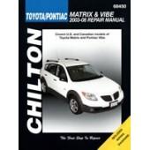 Haynes manual: Toyota/Pontiac Matrix & Vibe 2003 -08 (Chilton USA)