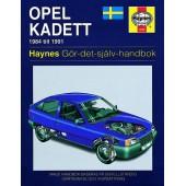 Haynes manual: Opel Kadett 84-91 (svenske utgava)