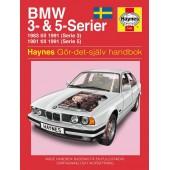 Haynes manual: BMW 3- och 5-serier 81-91 (svenske utgava)