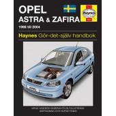 Haynes manual: Opel Astra & Zafira (98 -04) (svenske utgava)